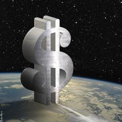 Dollar Sign in Space - Illustration by DonkeyHotey, on Flickr