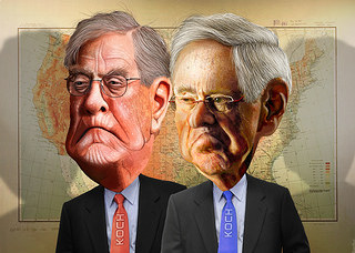 Koch Brothers Brave Spotlight to Try to Alter Their Image - disinformation