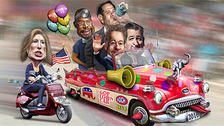 Clown Car Follies: GOP Candidates Stumble Into The 2016 Race
